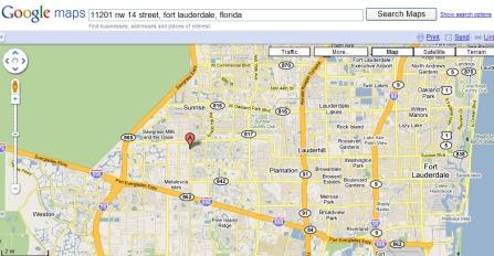 Google Map of Hyatt Extreme Christmas