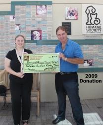 humane society donation 2009