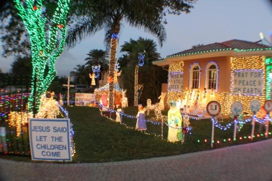 Entrance into Nativity Display 2013